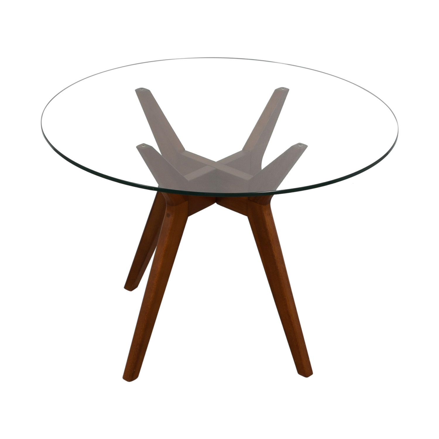 West Elm West Elm Jensen Round Glass Dining Table nyc