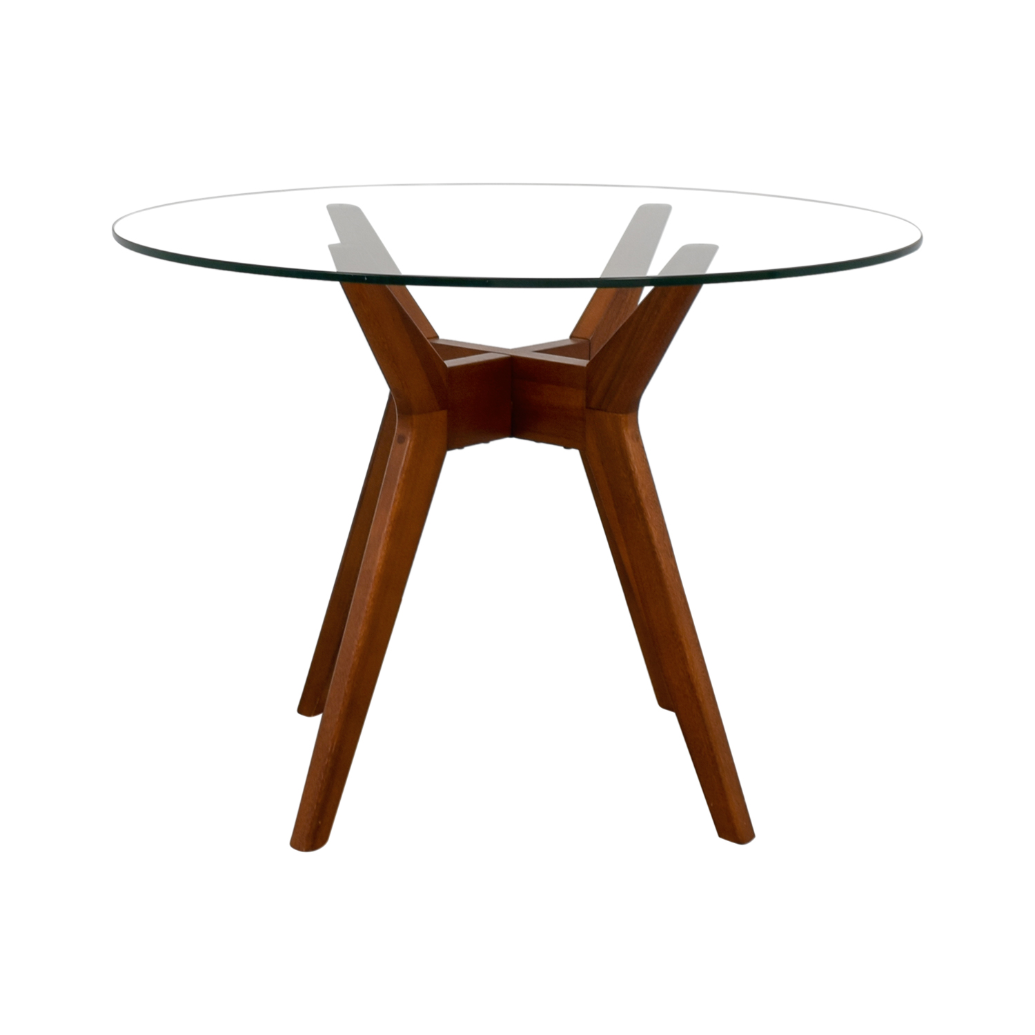 shop West Elm Jensen Round Glass Dining Table West Elm