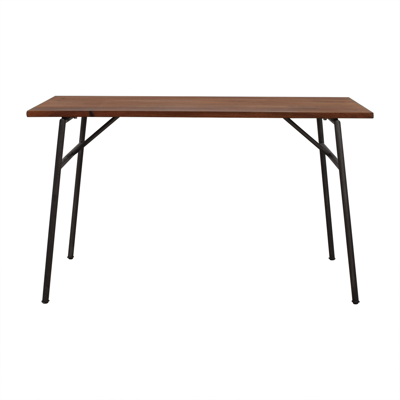 buy CB2 Acacia Rustic Wood Desk CB2 Utility Tables
