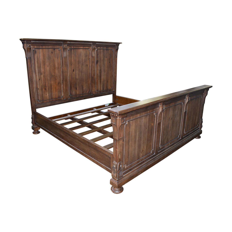 80 off restoration hardware restoration hardware st james king wood bed frame beds. Black Bedroom Furniture Sets. Home Design Ideas