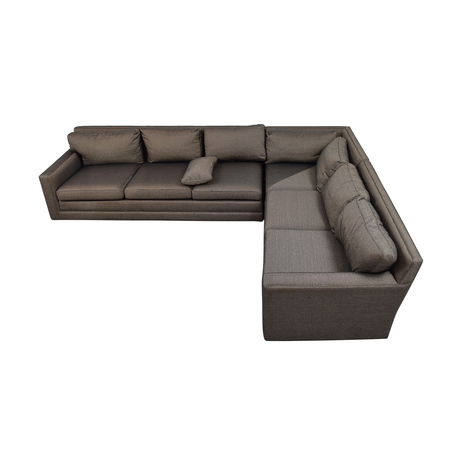 buy Keilhauer Keilhauer Cascade Black and Tan Tweed L-Shaped Sectional online