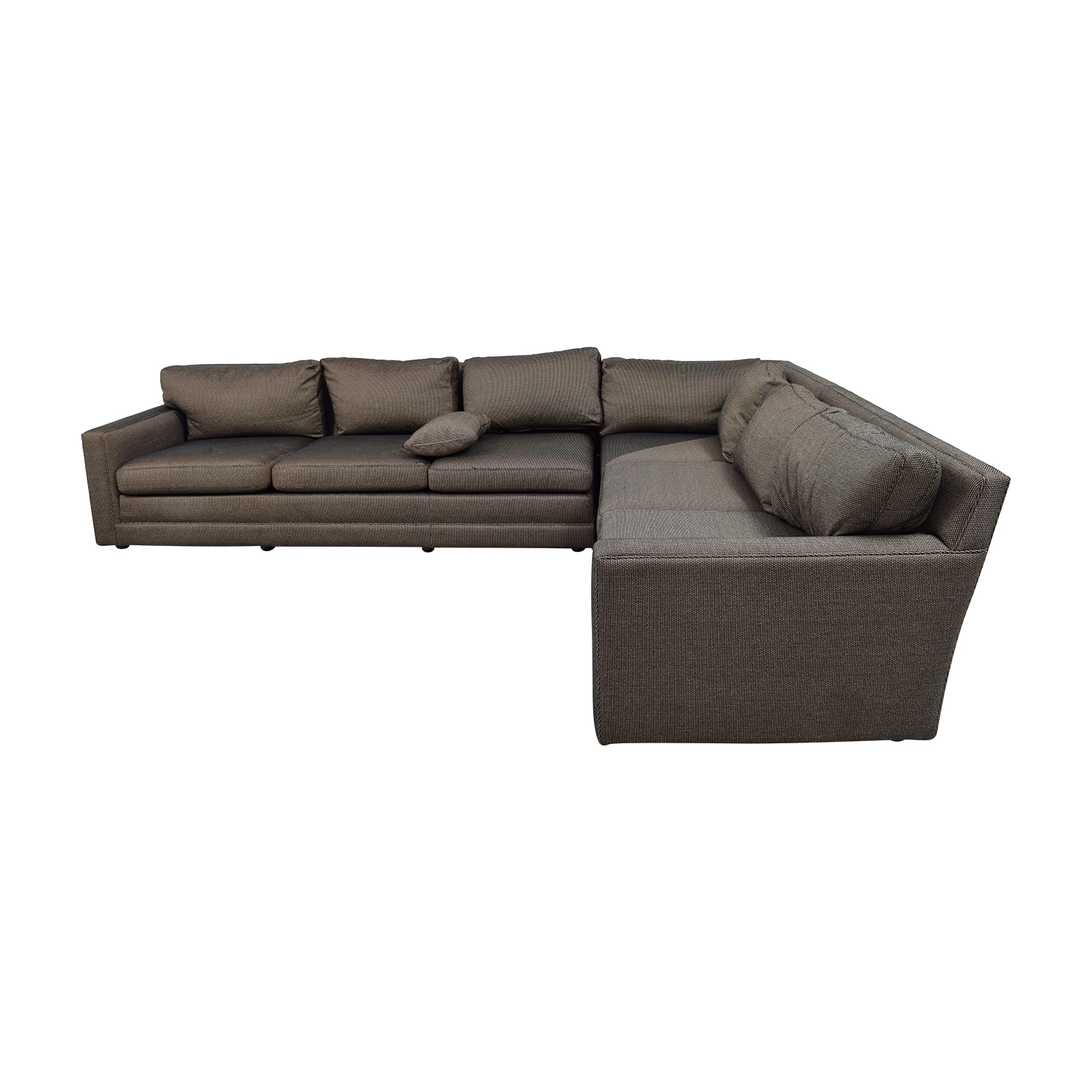 Keilhauer Keilhauer Cascade Black and Tan Tweed L-Shaped Sectional Sofas