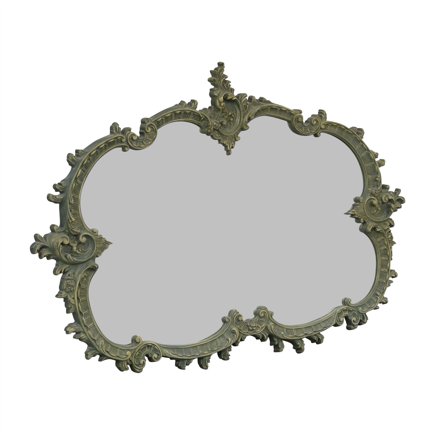 shop French Provincial Green Wood Carved Mirror