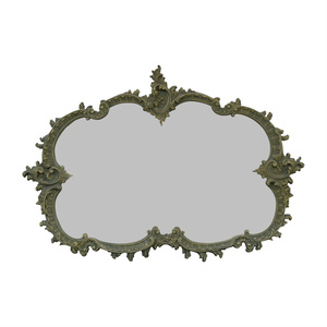 shop  French Provincial Green Wood Carved Mirror online