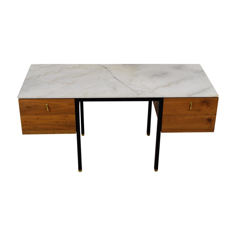 shop Organic Modernism Walnut Burro Two-Drawer Desk Organic Modernism Sofas