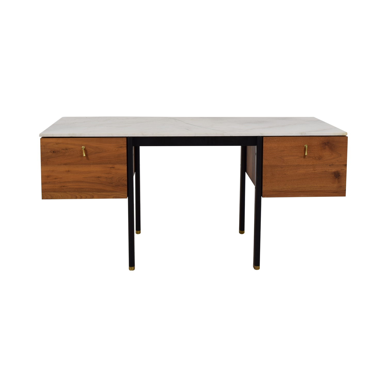 Organic Modernism Organic Modernism Walnut Burro Two-Drawer Desk for sale