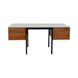 Organic Modernism Organic Modernism Walnut Burro Two-Drawer Desk price