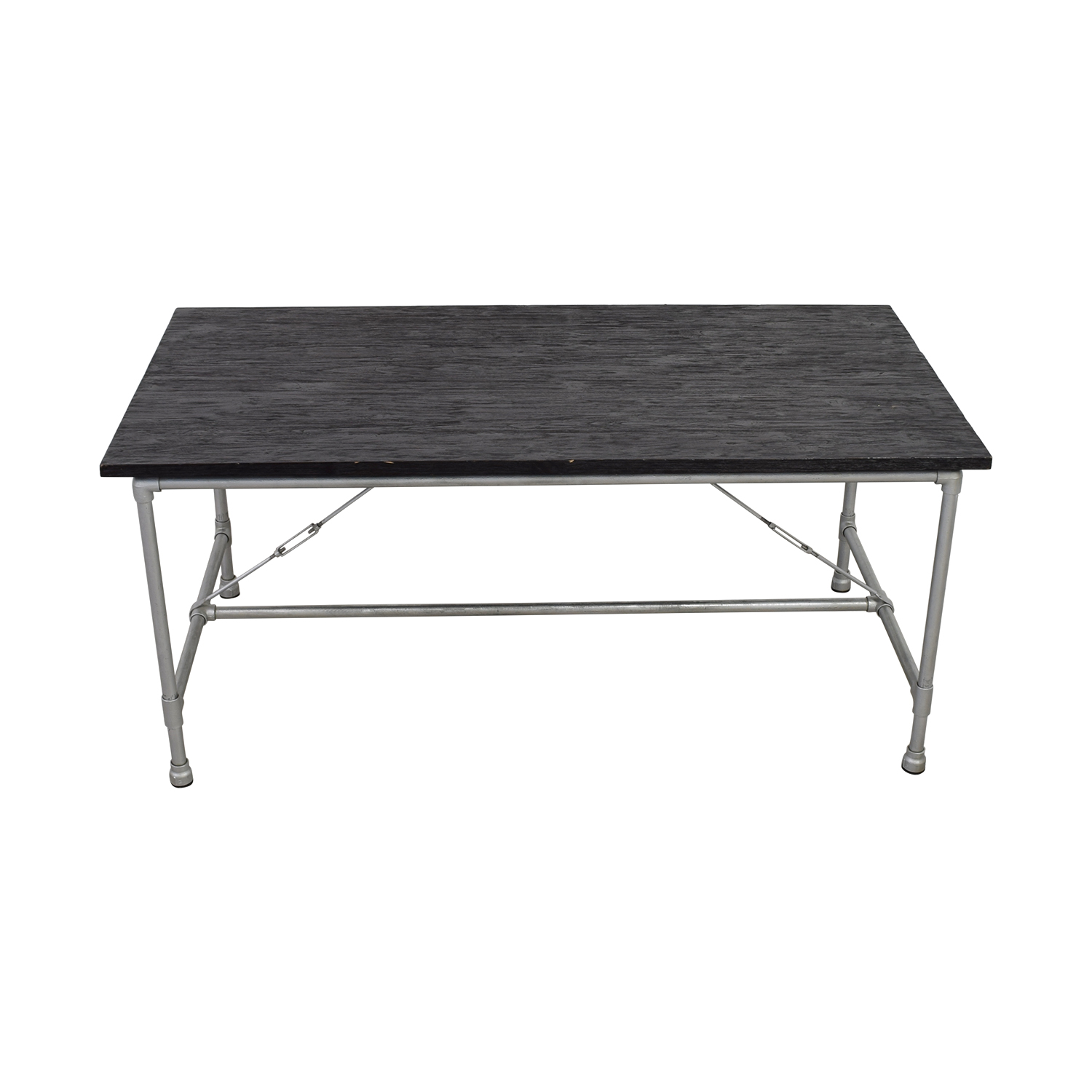ABC Carpet & Home ABC Carpet & Home Black and Steel Table dimensions