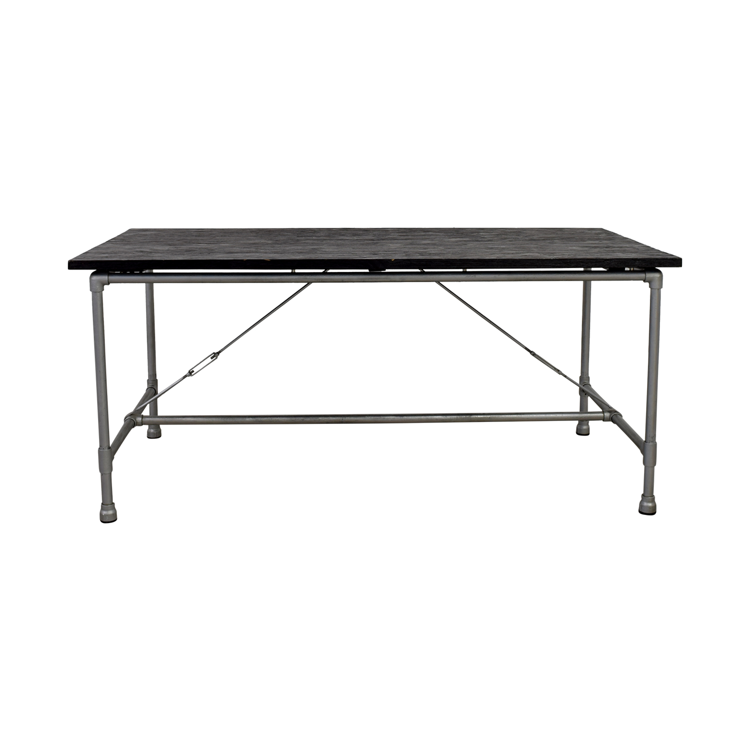ABC Carpet & Home ABC Carpet & Home Black and Steel Table