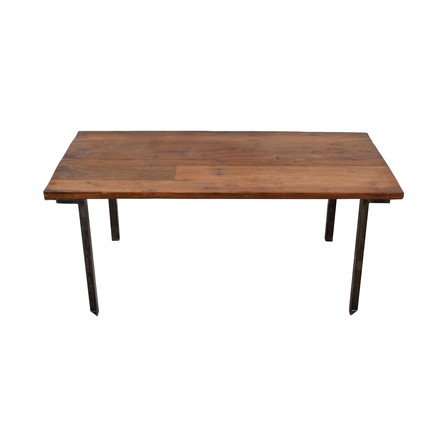 West Elm West Elm Wood and Steel Table nyc