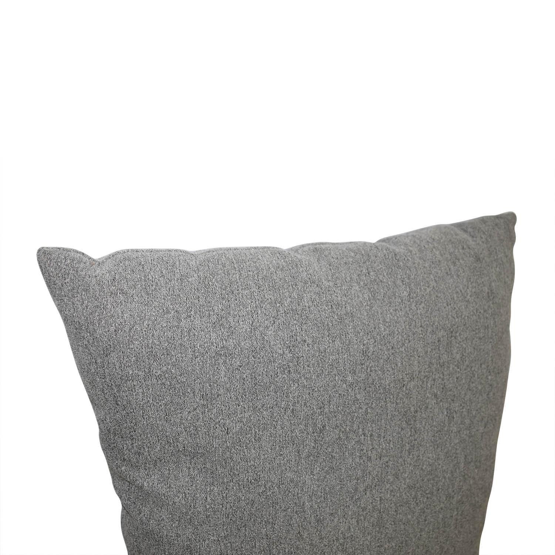 Grey Tweed Throw Pillow / Decor