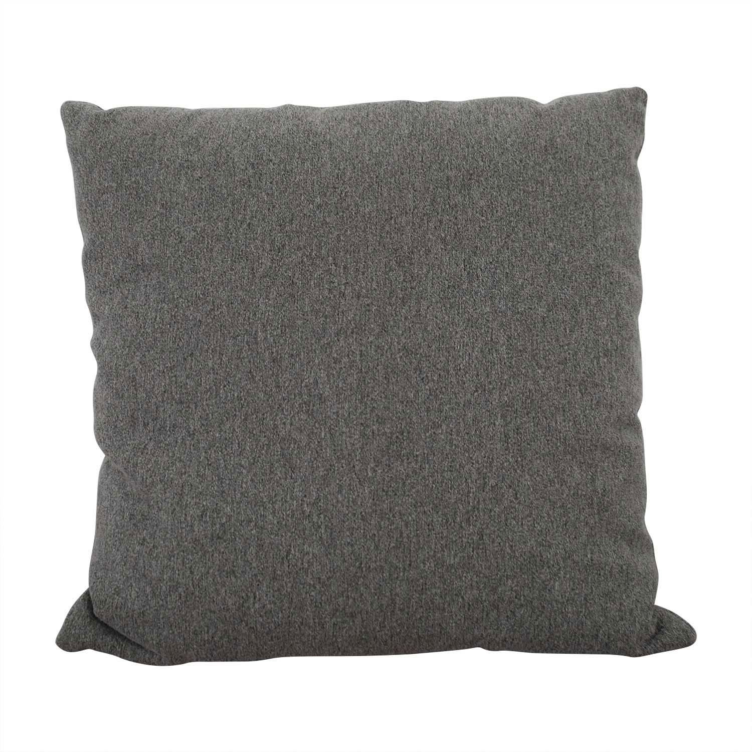 Grey Tweed Throw Pillow used