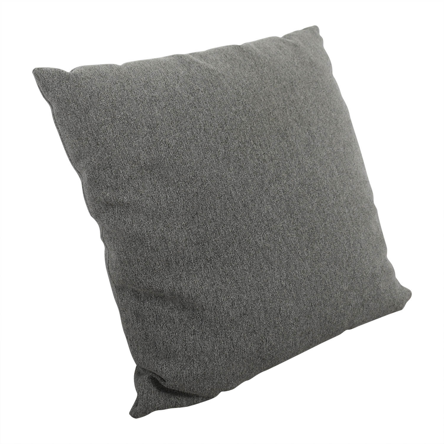 Grey Tweed Throw Pillow