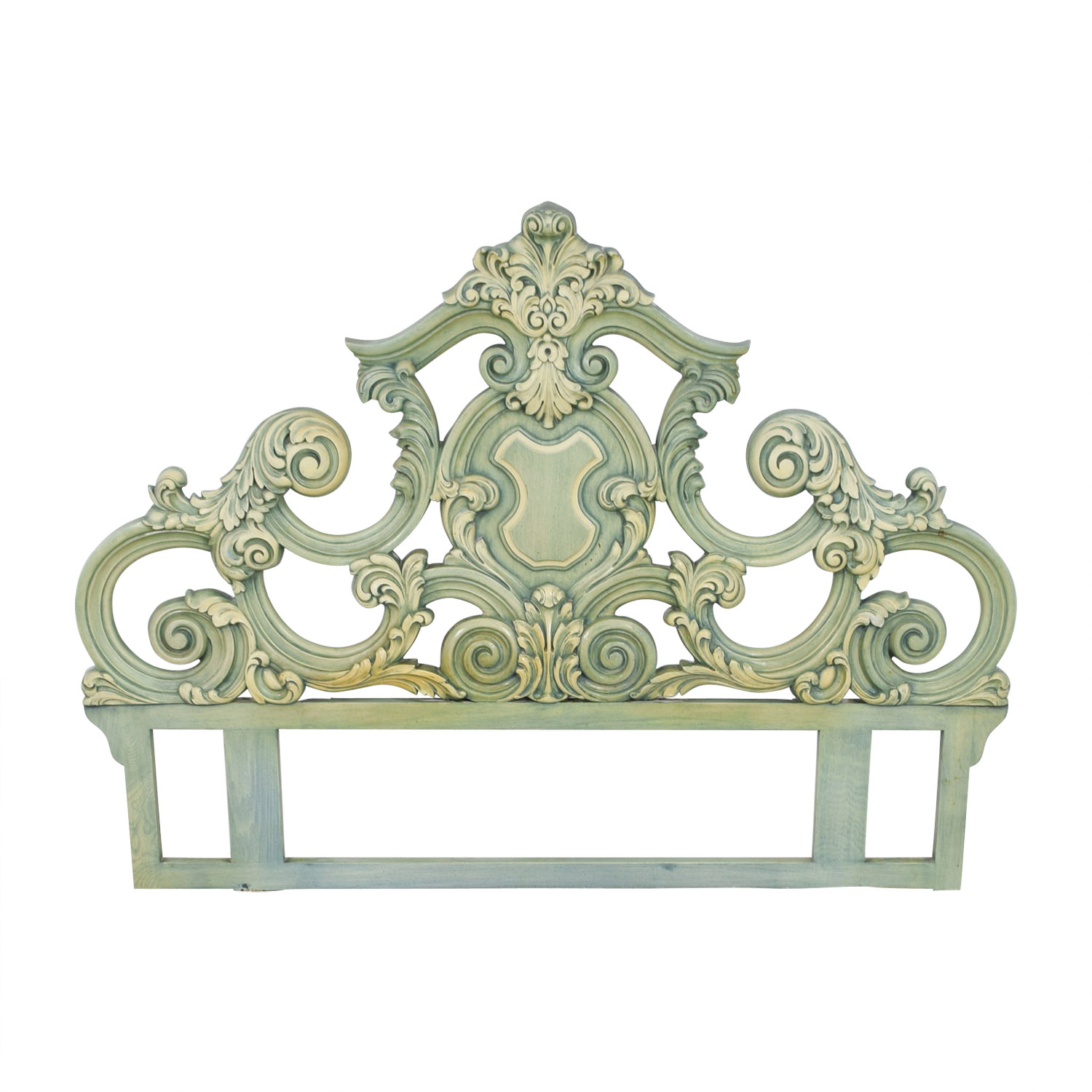 French Provincial French Provincial Green King Headboard on sale