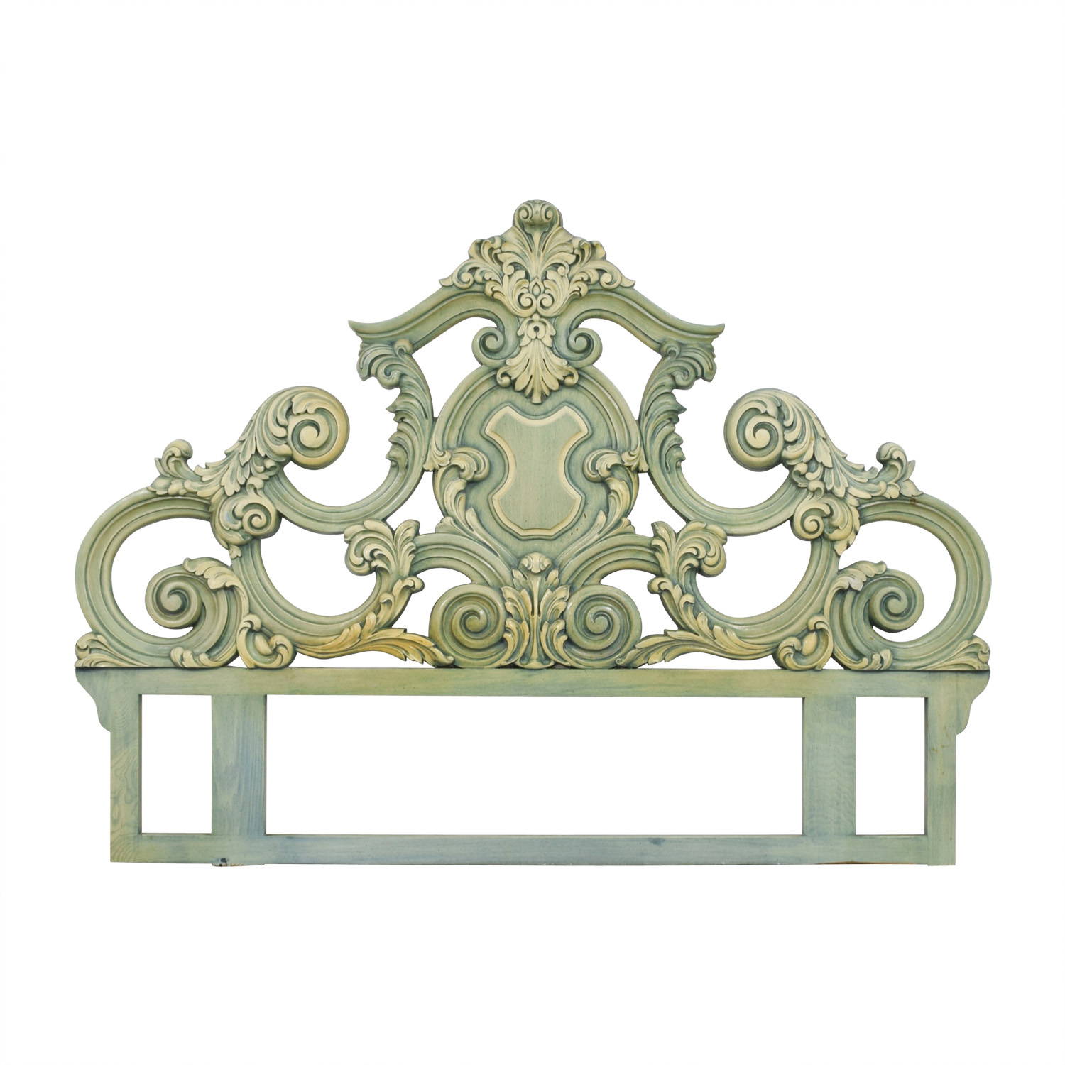 French Provincial French Provincial Green King Headboard GREEN