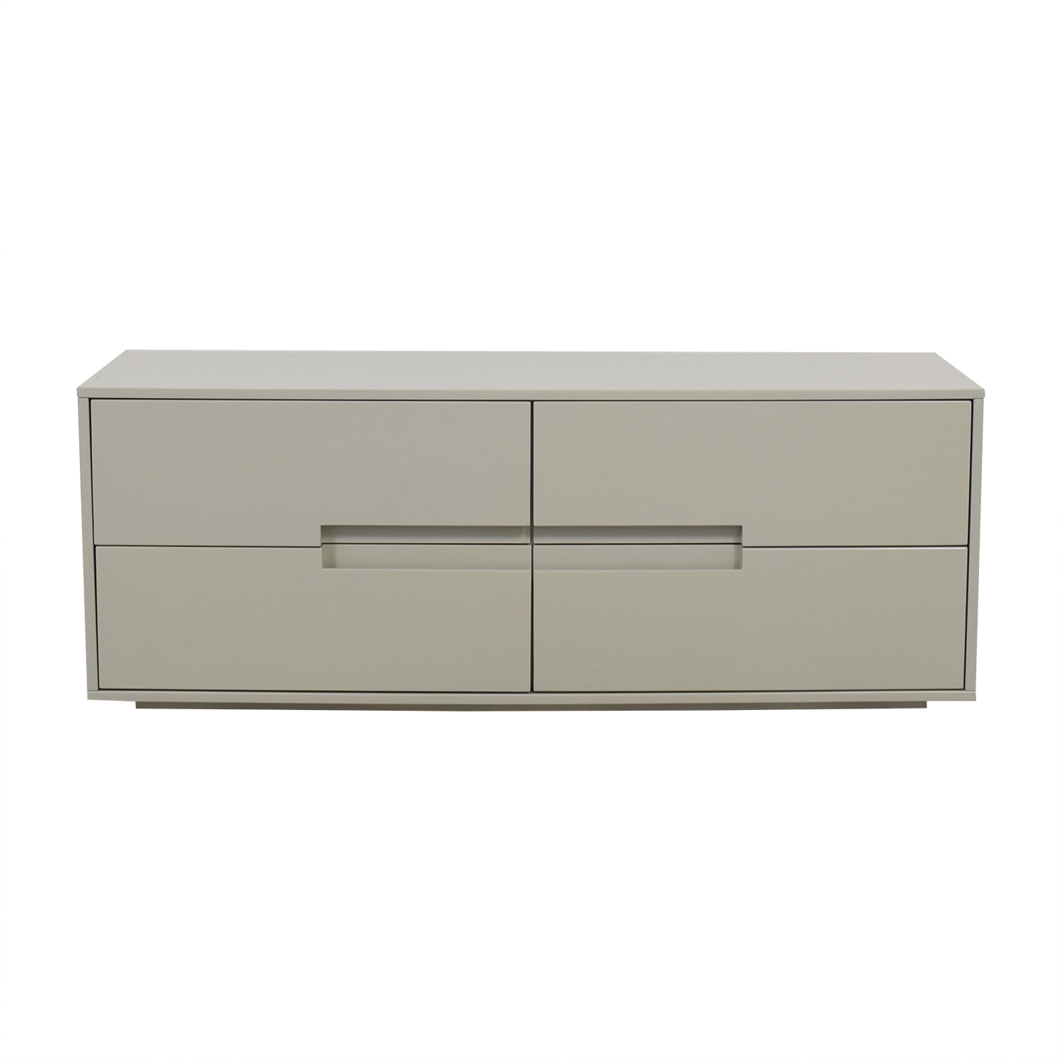 Grey Four-Drawer Cabinet used