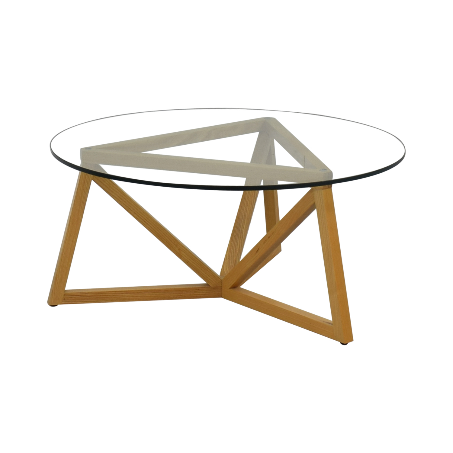 66% OFF - Round Glass Center Table / Tables
