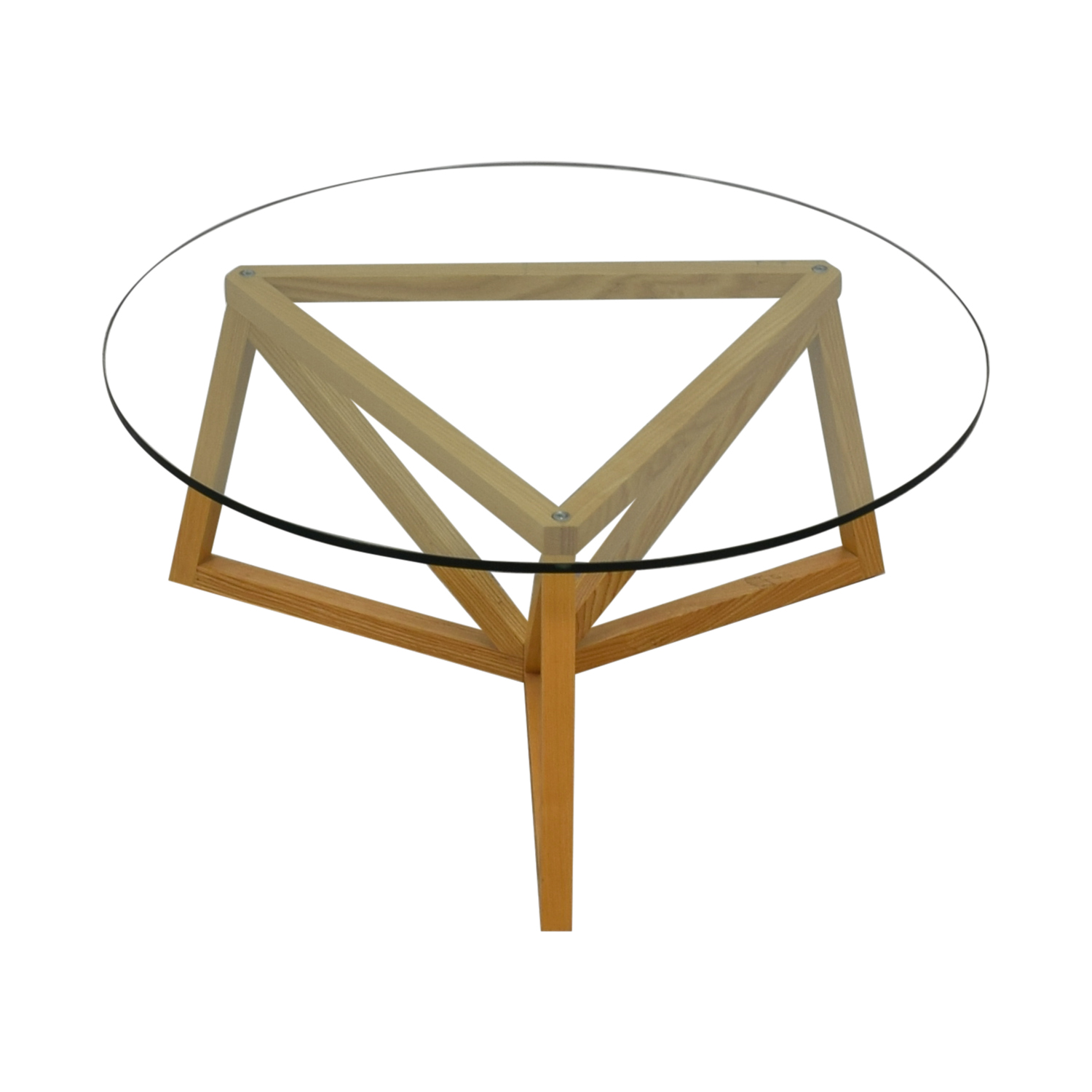 Round Glass Center Table / Tables