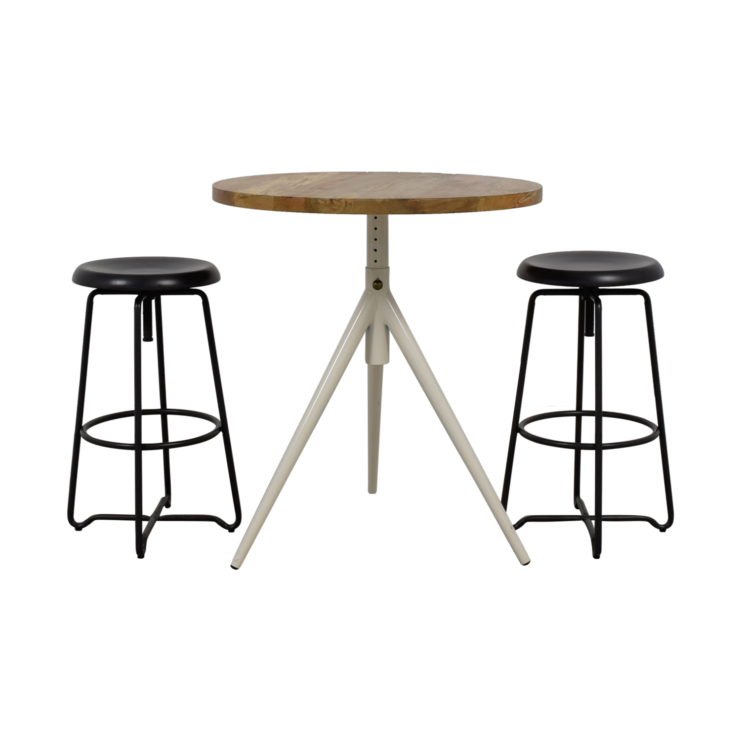 Rustic Wood Table and Bar Stools sale
