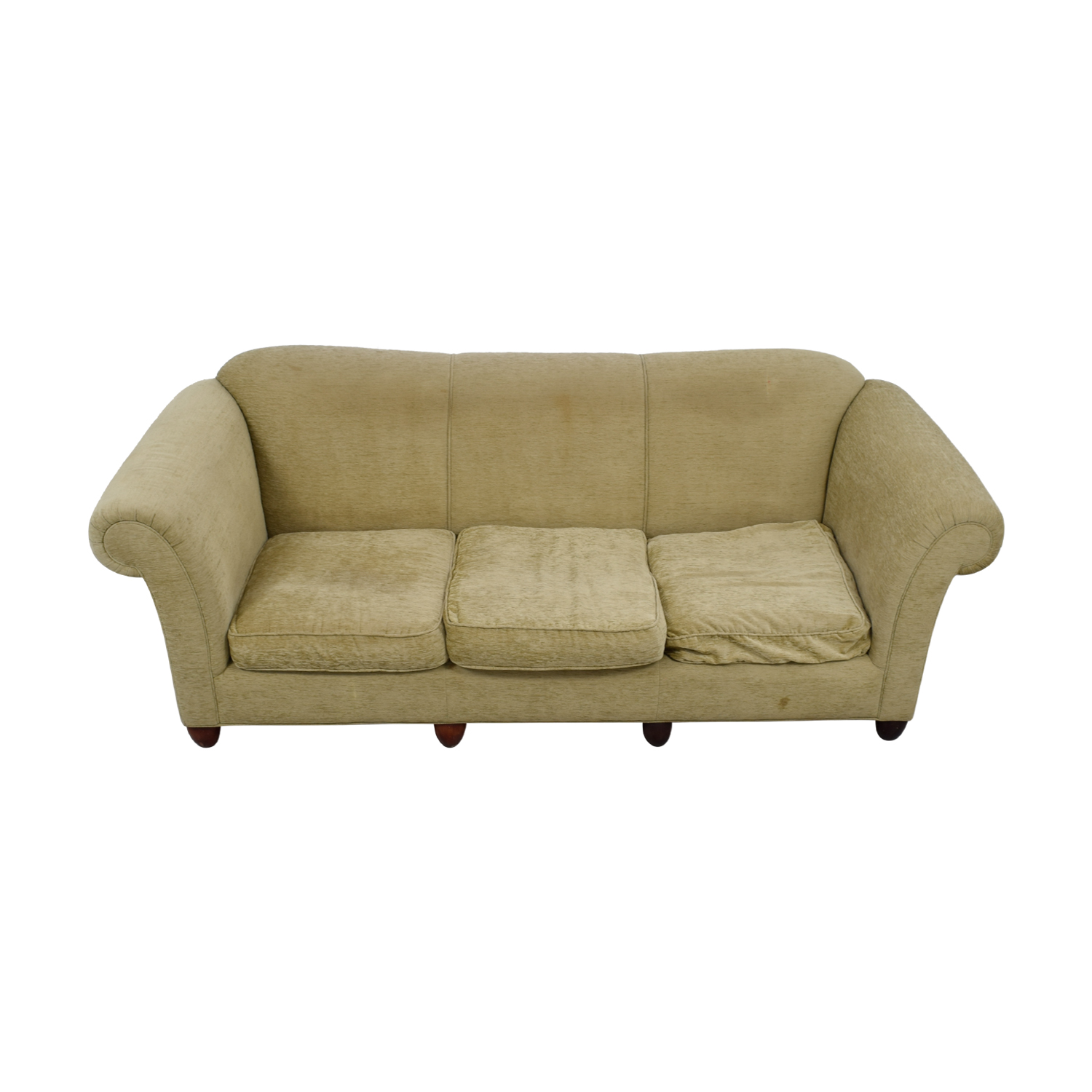shop Tan Three-Cushion Couch