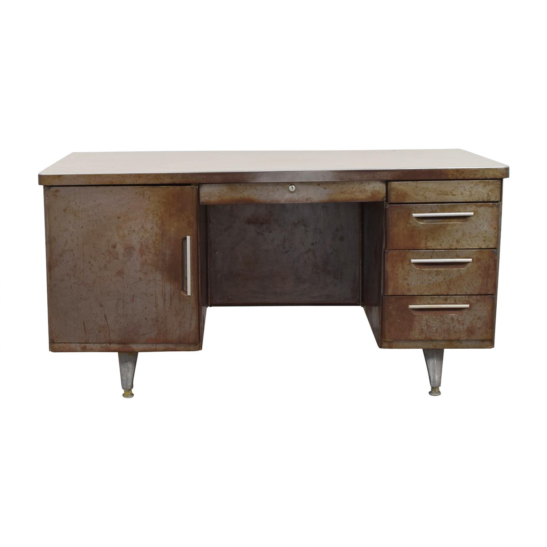 Shaw Walker Shaw Walker Rustic Metal Desk discount