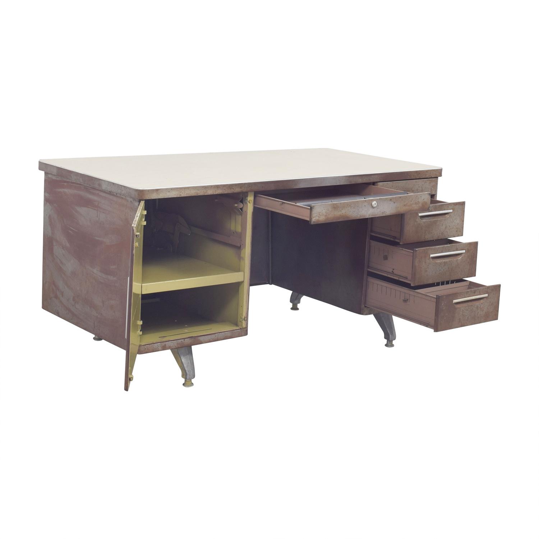 82% OFF - Shaw Walker Shaw Walker Rustic Metal Desk / Tables