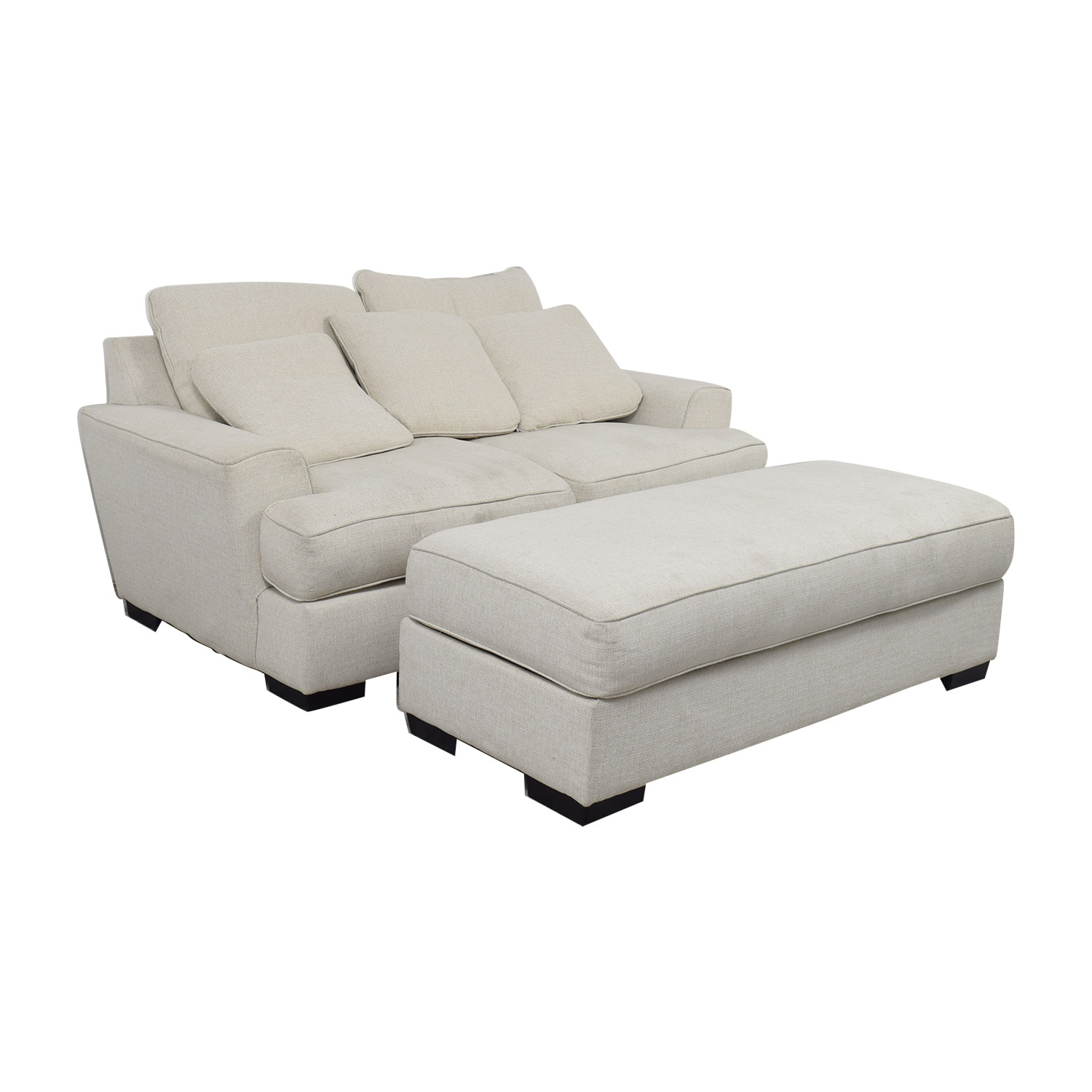 90 Off Macy S Macy S Ainsley Off White Loveseat And Ottoman Sofas