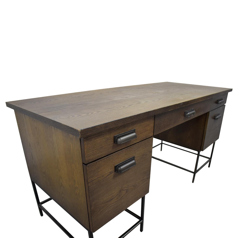 West Elm Rustic Wood Desk Dimensions