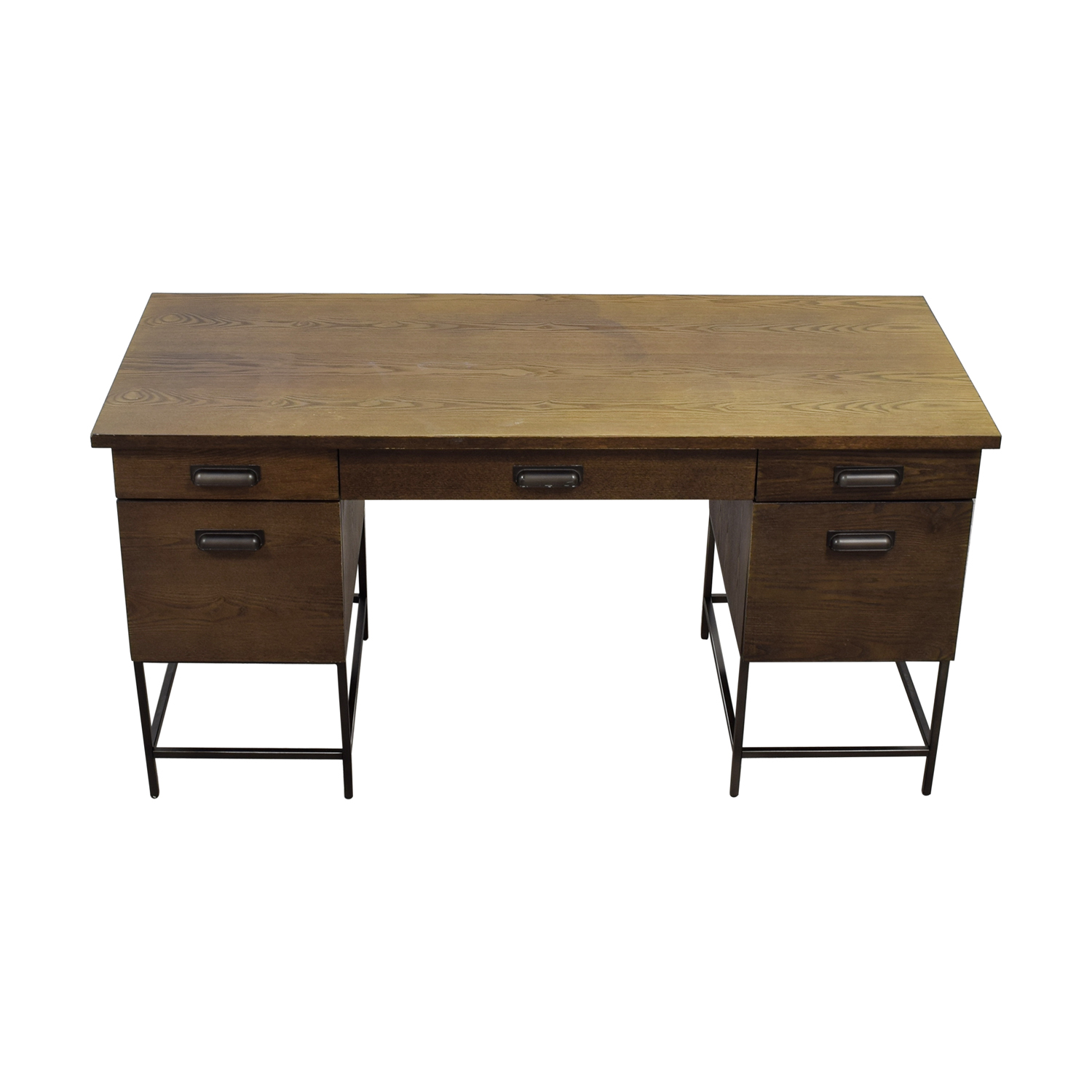 West Elm West Elm Rustic Wood Desk discount