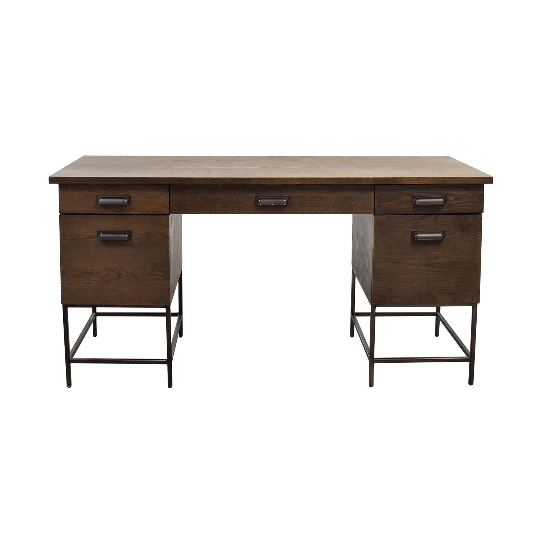West Elm Rustic Wood Desk Home Office Desks