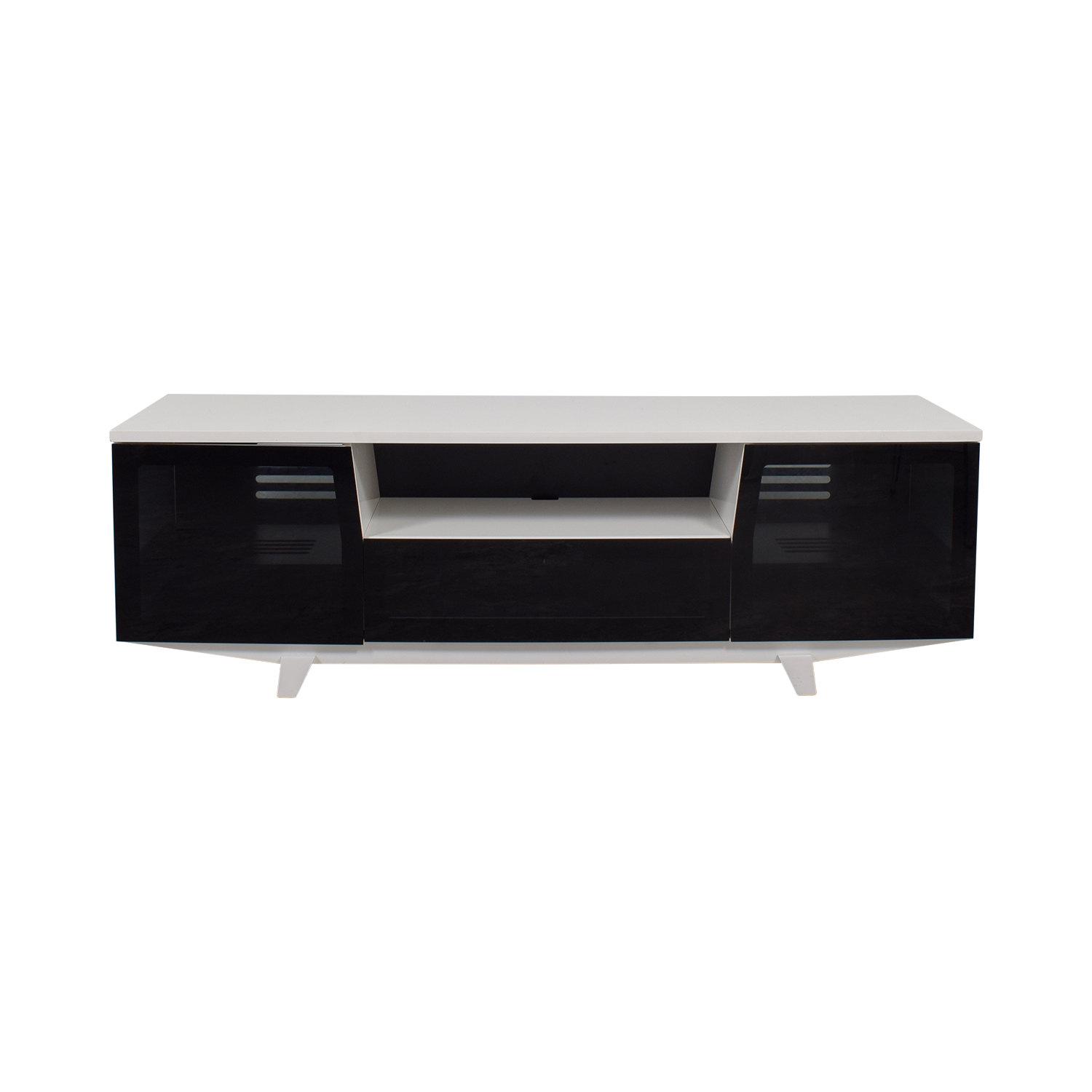 Jensen Lewis Jensen Lewis BDI Marina Black and White TV Stand Sofas