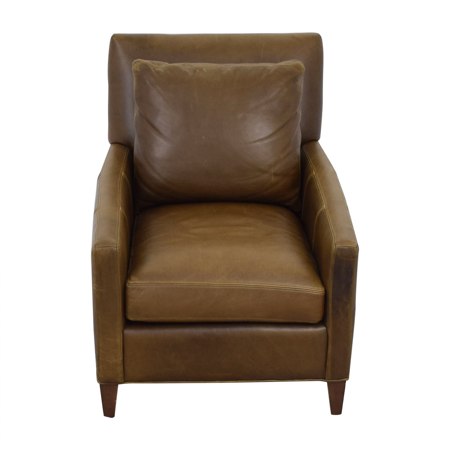 ABC Carpet and Home ABC Carpet & Home Cobble Hill Brown Leather Club Chair