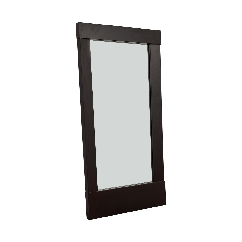 buy Crate & Barrel Colby Gunmetal Floor Mirror Crate & Barrel
