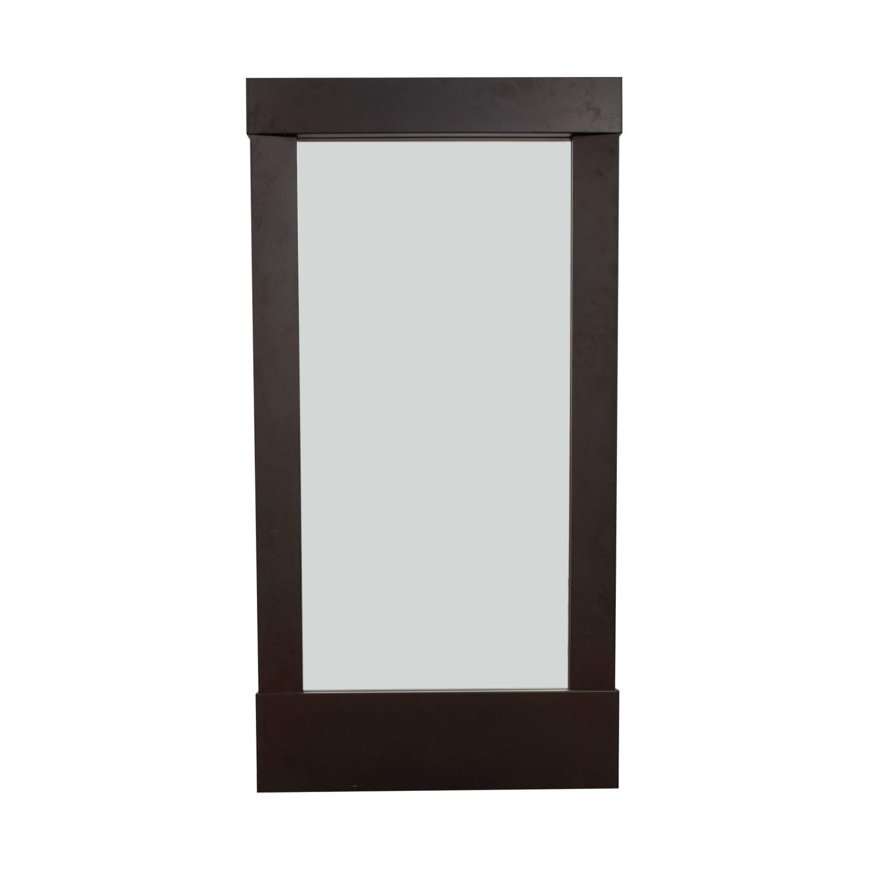 Crate & Barrel Crate & Barrel Colby Gunmetal Floor Mirror Decor