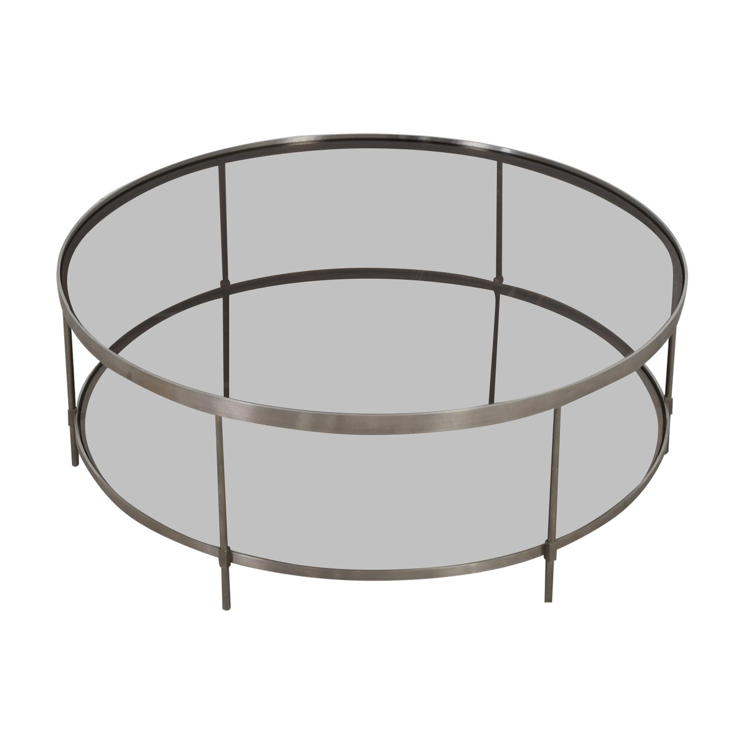 shop Round Glass and Metal Coffee Table