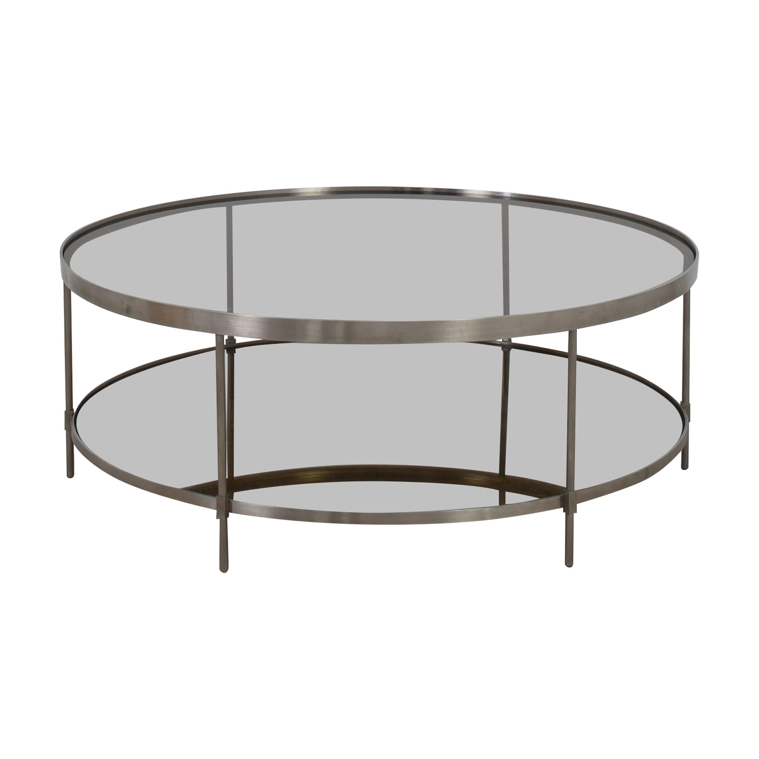 Round Glass and Metal Coffee Table price