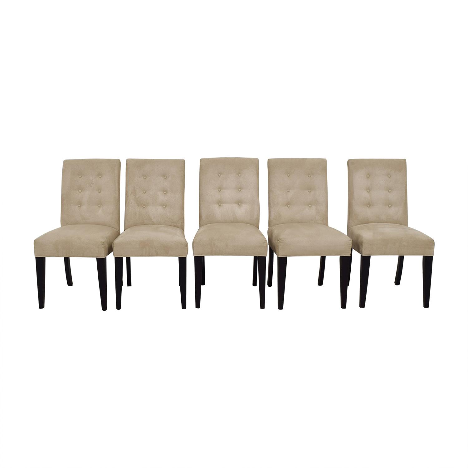 Mitchell Gold + Bob Williams Mitchell Gold + Bob Williams Grey Tufted Chairs for sale