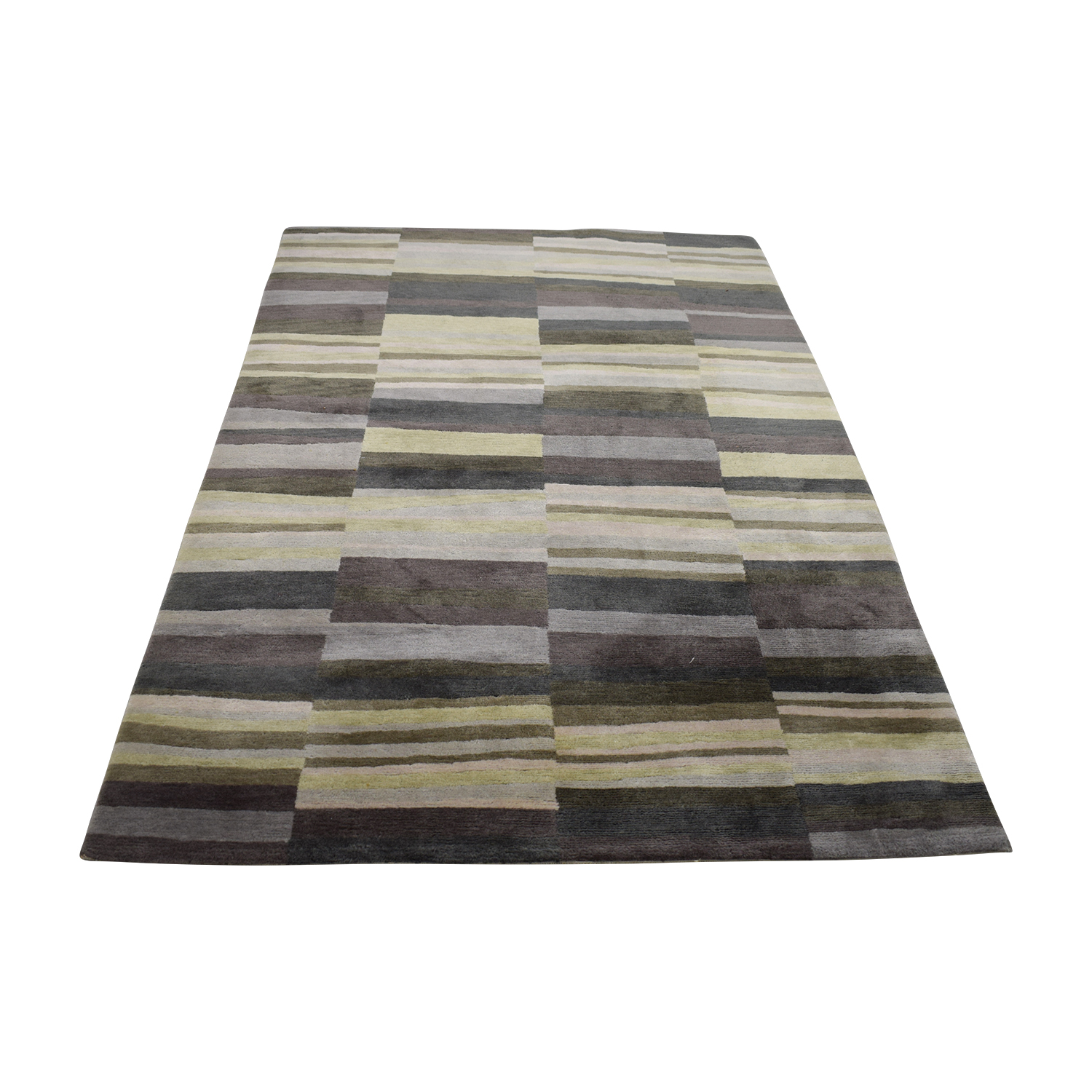 buy Room & Board Multi-Colored Grey Rug Room & Board