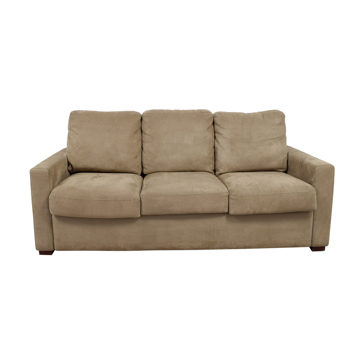 Comfort Sleepers Comfort Sleepers Beige Three-Cushion Sofa price