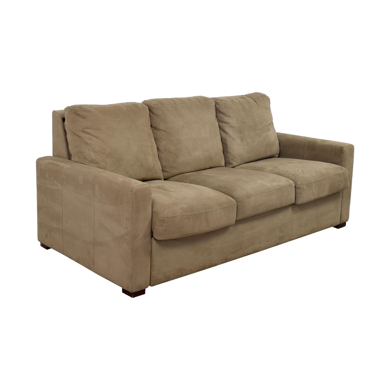 Comfort Sleepers Beige Three Cushion Sofa