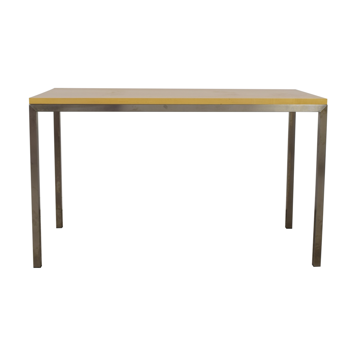 Room & Board Portia Maple Top and Stainless Steel Base Table / Tables