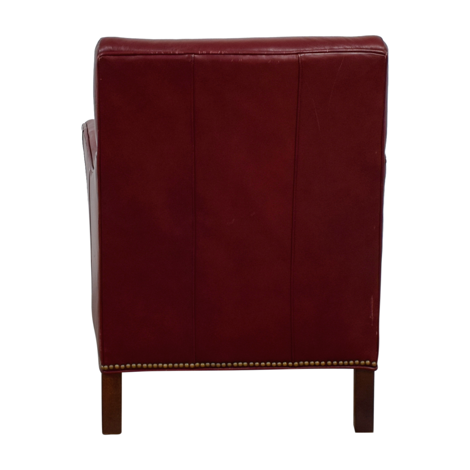 ... Sam Moore Sam Moore Red Leather Accent Chair Second Hand ...