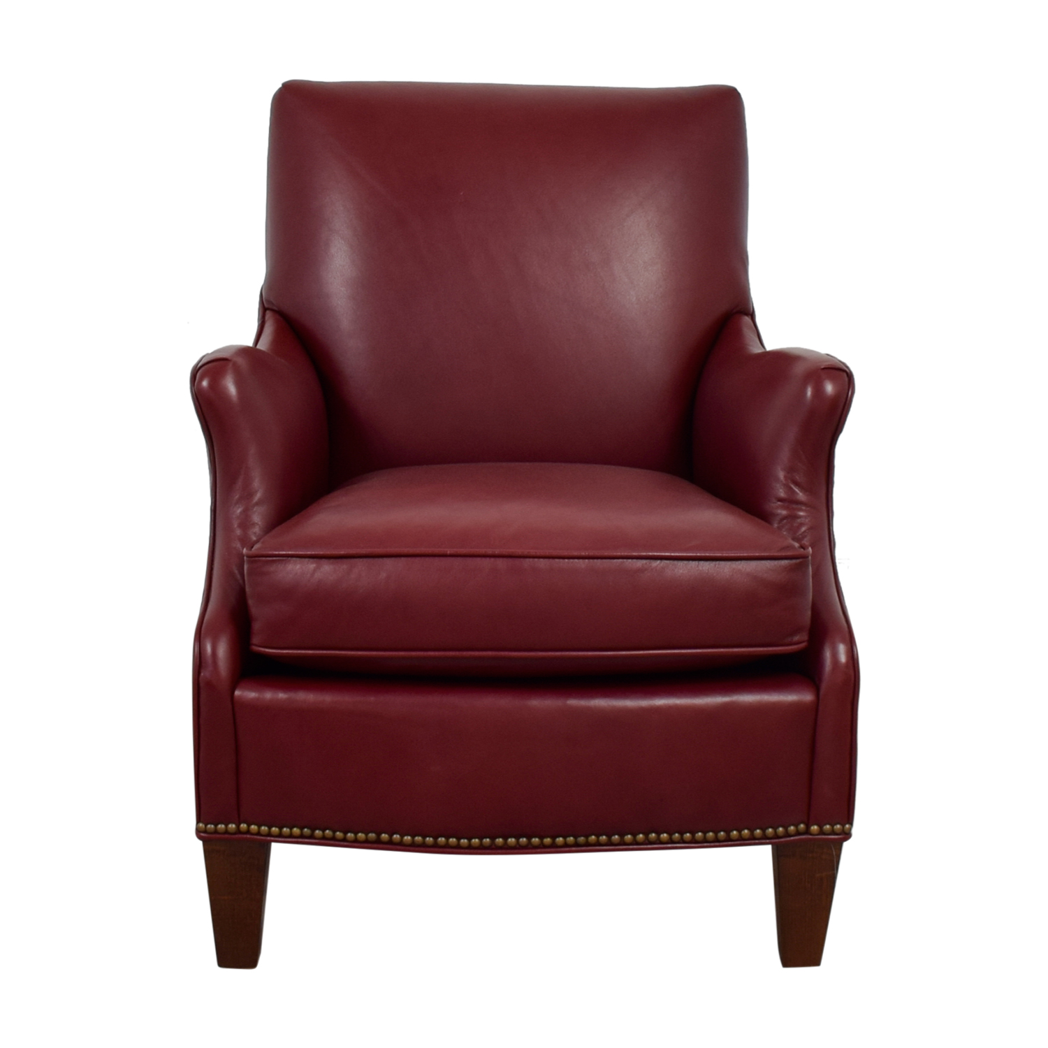Sam Moore Sam Moore Red Leather Accent Chair Chairs ...