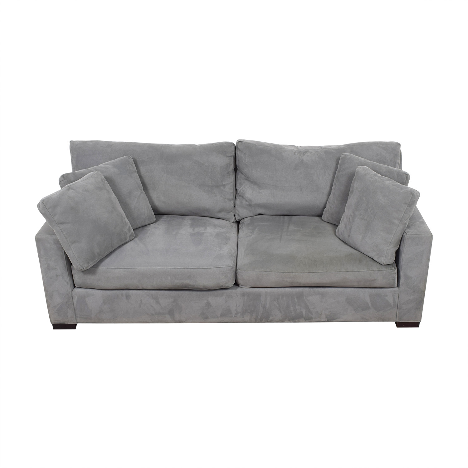 Crate & Barrel Crate & Barrel Gray Two-Cushion Couch coupon