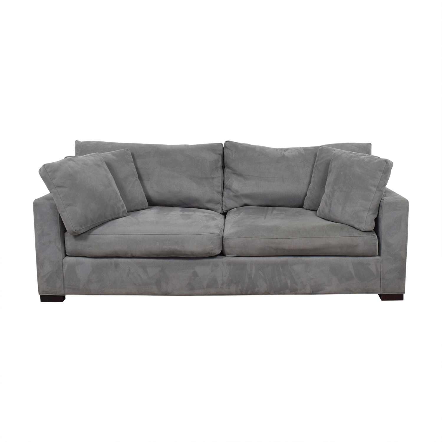 shop Crate & Barrel Gray Two-Cushion Couch Crate & Barrel