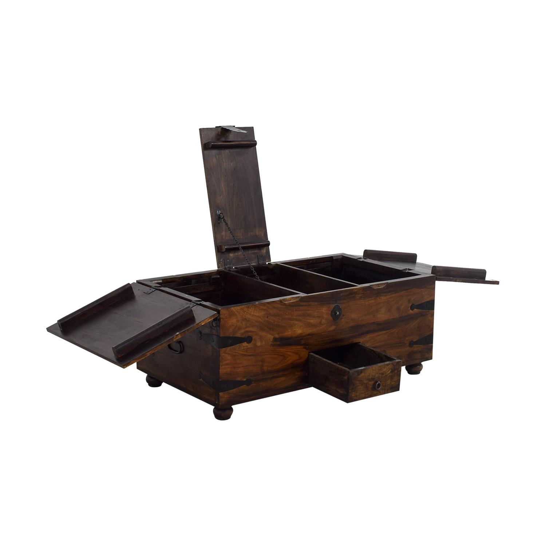 Off Crate And Barrel Crate Barrel Square Coffee Table: Crate And Barrel Crate & Barrel Chest Coffee
