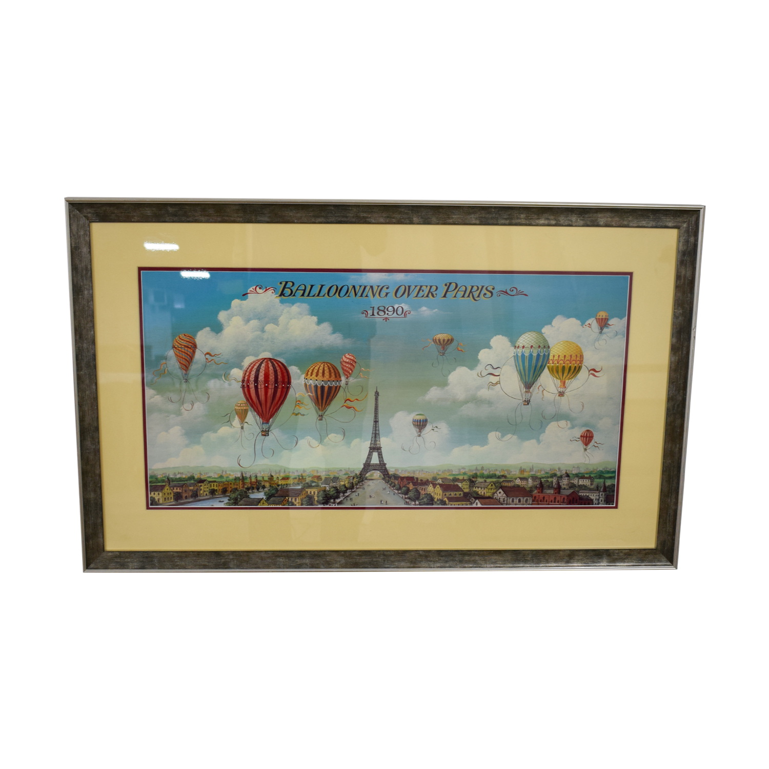 Framed Hot Air Balloon Paris Print price