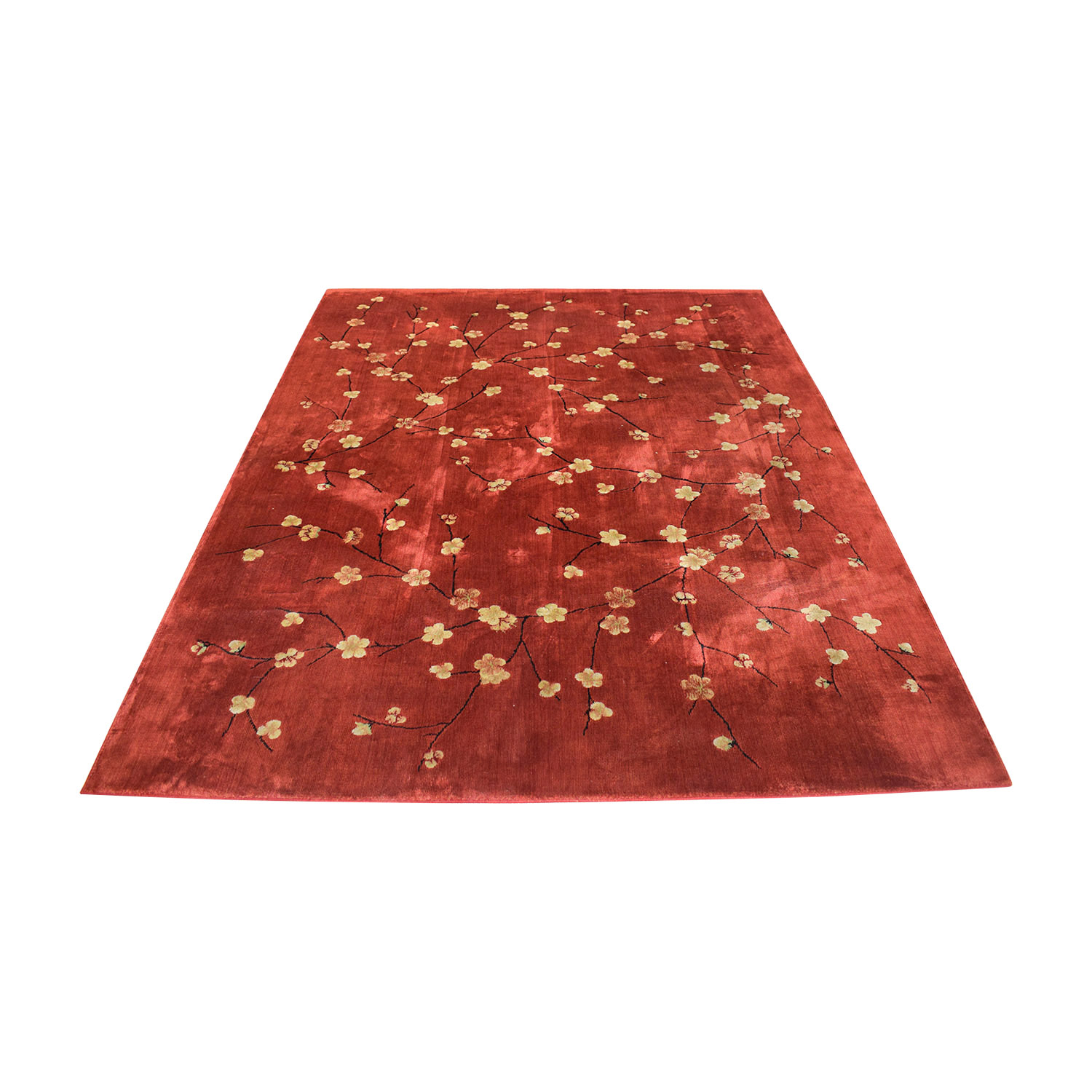 Macy's Macy's Chambord Red Floral Rug