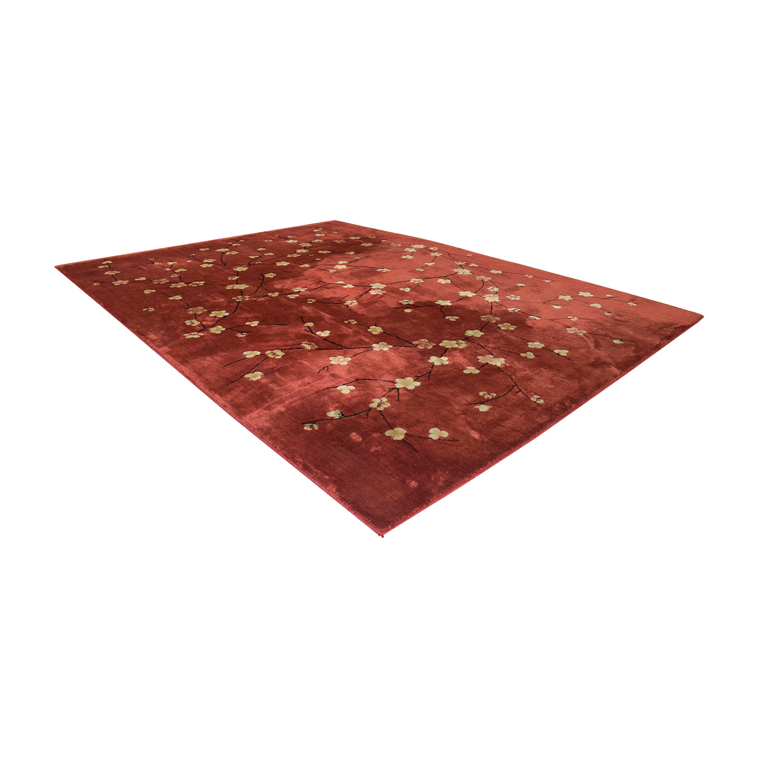 Macy's Chambord Red Floral Rug / Decor