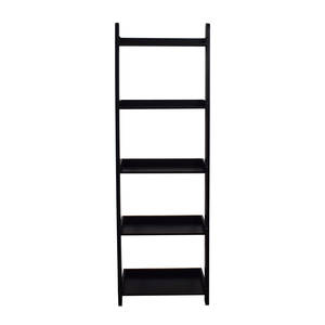shop Crate & Barrel Black Leaning Bookcase Crate & Barrel